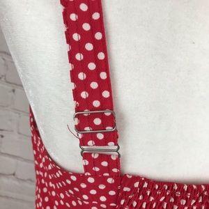 Tops - Tailor Made Pink White Polka Dot Retro Pinup Tank